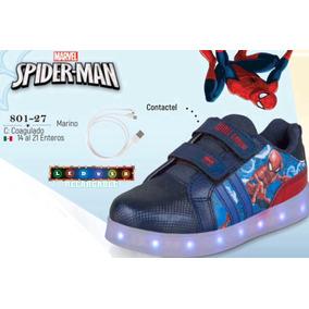 Tenis Con Luz Led Cklass Kids&teens Spiderman 801-27