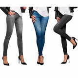 Calza Slim Lift Caresse Tipo Jeans Colombianos Mujer Levanta