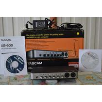 Placa Interface Audio Tascam Us-600 Usb 2.0 Midi 6x4