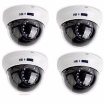 Paquete 4 Camaras Domo 1200 Tvl Epcom Vision Nocturna 20m