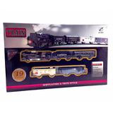 Tren Eléctrico 4 Vagones Rail King Oferta Juego