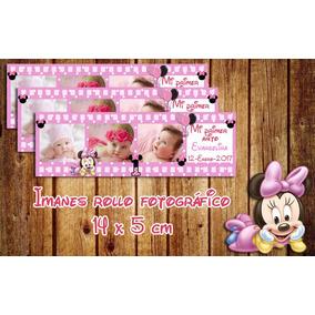Souvenirs Imanes Cinta Fotográfica Minnie Baby, Mickey