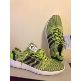 Zapatos En Malla adidas Verde Fosforescente Para Caballeros