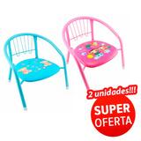 Cadeira Infantil De Metal Cadeirinha Criança/decoração 2un.