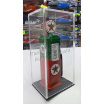 1:18 Bomba De Gasolina Metalica Texaco Verde Rojo Diorama
