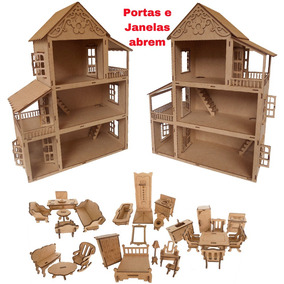 Casa Casinha De Bonecas Polly Pocket 27 Mini Moveis Cn4