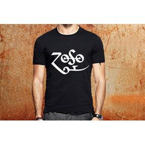 Camiseta Led Zeppelin Zoso Camisa Blusa Preta Banda Rock R4 247672fed09fd