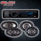 Paquete Combo Autoestereo Bocinas 6.5 Y 6x9 Bluetooth Mp3