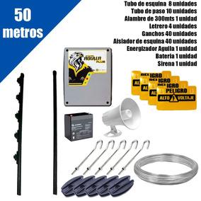 Cerco Electrico Kit De 50 Mts Con Energizador Listo Para Ins