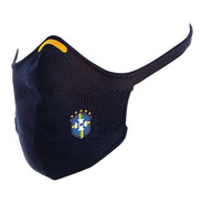 Máscara Knit 3d Cbf Confederação Brasileira De Futebol C/ Nf