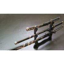 Espada Katana Samurai Dragão Três Conjunto C/suporte