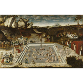 Cuadro De Pintura. Lucas Cranach En Canvas S/bastidor 139x90