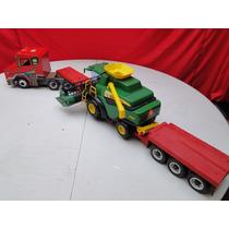 Caminhão Scania Colheitadeira Bitrem Carreta Prancha 1,25mts