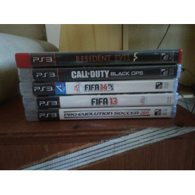 Pack Juegos Ps3 Black Ops, Fifa 14/13,pes 11,resident Evil 5