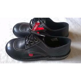 Zapatos Kickers 34 Cuero Modelo Scoop Nuevos Sin Uso