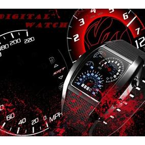 Reloj Digital De Hombre Tipo Velocímetro, No Subasta