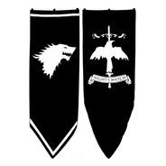 Estandartes Game Of Thrones Juego De Tronos Pintados A Mano