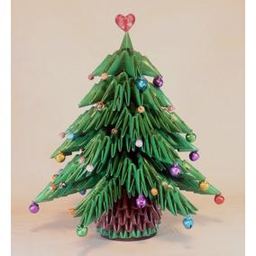 Árboles De Navidad En Papel De 21 Cms. (origami 3d)