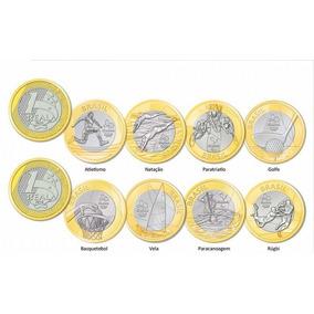 Moedas Olimpíadas Avulsas Circuladas Frete R$ 8,00