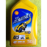 Aceite Shell Advance 4 Tiempos Mineral 20w 50