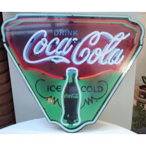 Placa Mdf Coca Cola Imita Neon Decorar Parede Sala Bar
