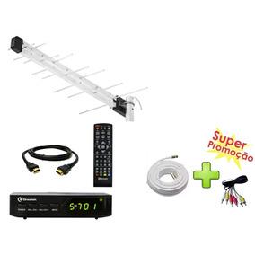 Conversor Digital P/ Canais Terrestres Greatek +antena Lu14