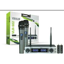 Microfone S Fio Vokal Vlr 502 + 2 Baterias Extras + Garantia
