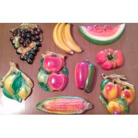 Lote Frutas Ceramica Para Colgar Adorno Decoracion