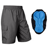 Baleaf Hombre `s 3d Padded Mountain Bike Baggy Cargo Shorts