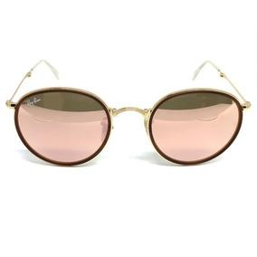 Oculos De Sol Ray Ban Round Dobrável Rb 3517 001 z2 51 8105536fe9