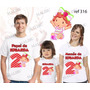 Lembrança De Aniversario Moranguinho Baby Camiseta Kit Com 3