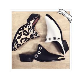 Zapatos Zuecos Texanos Suecos Con Herrajes Metálicos