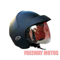 Casco Abierto Suomy Joo Negro Mate C Visor En Freeway Motos
