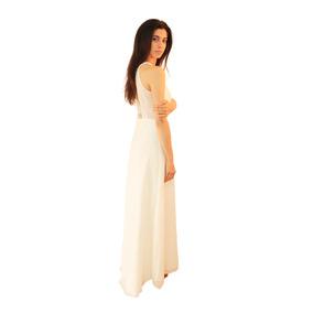 Vestido Uma Largo De Gasa De Fiesta Mujer, Brishka V-0043