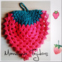 Agarraderas Frutas Crochet Frutilla Sandia Limon