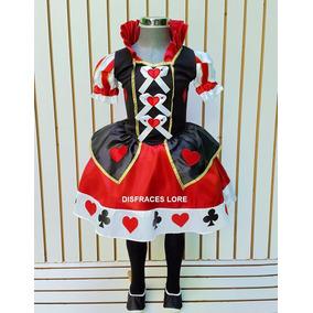 Disfraz Adulto Reina De Corazones Vestido Mujer Halloween