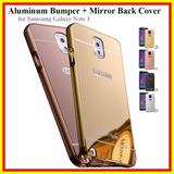 Case Bumper Celular Galaxy Note 3 N9000 + Tampa Verso Note3