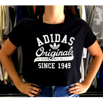 Blusinha Cropped Adidas Camiseta Feminina Nike # Hollister