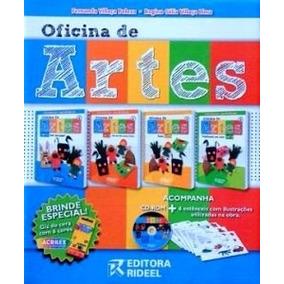 Coleção Oficina De Artes 6 A 10 Anos 4 Vol.- Editora Rideel