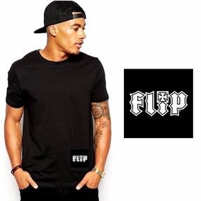Camisa Camiseta Blusa Preta Básica Masculina Flip
