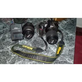 Vendo Nikon 3100 Muy Poco Uso 2 Lentes Tarjeta De 3