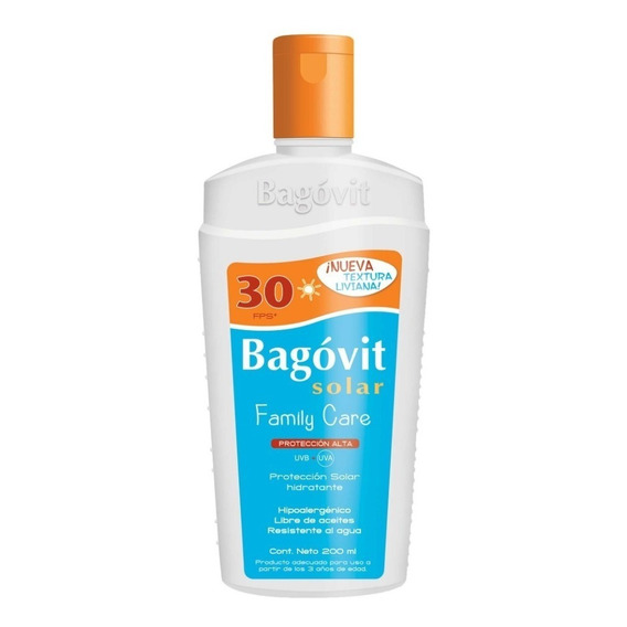 Protector Solar Bagovit Family Care Fps30 200ml