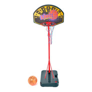 Aro Basquet De Pie Metalico + Pelota + Valija +red Rodacross