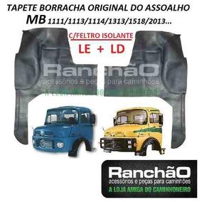 Tapete Borracha Original Caminhao Mb 1113 2013 C/feltro(par)