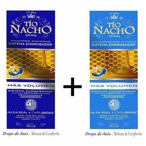 Nuevo Tio Nacho 2 Shampoo + 2 Acondicionador Engrosador