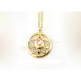 Collar Broche Crystal Star Calado Dorado Sailor Moon