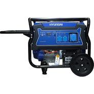 Generador Eléctrico Y Manual Hyundai Gasolina 6/6,5 Kw/kva