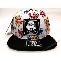 Boné Aba Reta Snapback Maffia Co. Unisex Floral Sk8 Florido