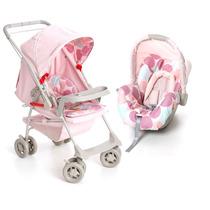 Kit Carrinho Bebê Milano Galzerano + Bebê Conforto + Brinde