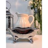 Bañera De Ceramica Plata - Deco Vintage